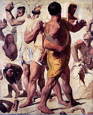 The Martyrdom of Saint Symphorian - Studies for the Martyrdom of Saint Symphorian, oil on canvas, Musée Ingres