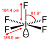Stereo structural formula of iodine pentafluoride