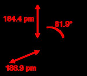 Iodine pentafluoride - Image: Iodine pentafluoride gas 2D dimensions