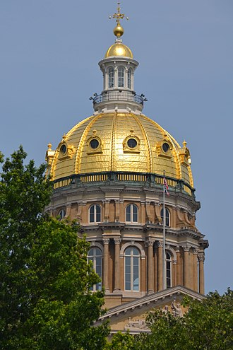 Iowa State Capitol - The central dome.