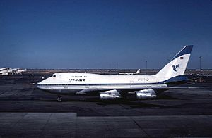 Iran Air - Iran Air Boeing 747SP at John F. Kennedy International Airport in 1976