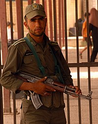 Iranian soldier at Iraq-Iran border, Wasit Province 2008-09-11.JPG