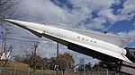 JASDF Nike-J missile body left front view at Aibano Sub Base November 28, 2015.jpg