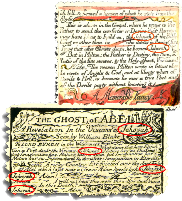 JEHOVAH William Blake Works