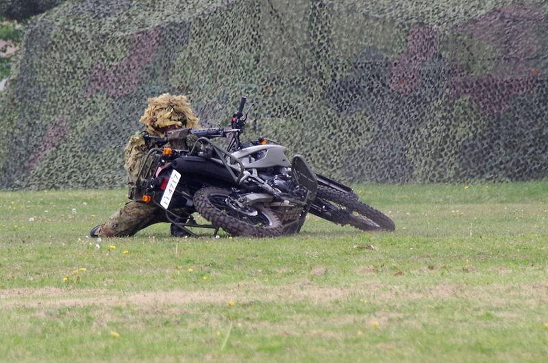File:JGSDF reconnaissance bicycle (Kawasaki KLX250) 20140429-02.JPG