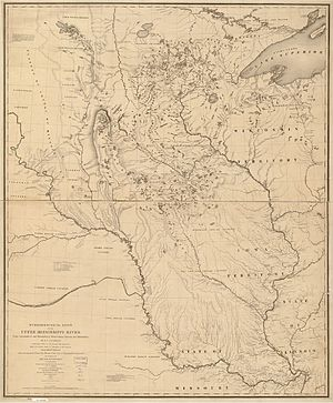 Joseph Nicollet - Nicollet's map of the Hydrographical Basin of the Upper Mississippi River, 1843.
