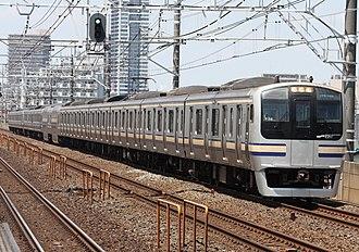 E217 series - E217 series train on a Sōbu Line Airport Narita service, August 2009