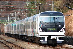 E257 series - An E257 series train on a Chuo Line Azusa service in January 2008
