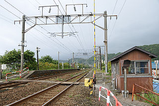 Tomiura Station (Hokkaido) railway station in Noboribetsu, Hokkaido, Japan