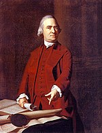 In this circa  1772 portrait by John Singleton Copley, Adams points at the Massachusetts Charter, which he viewed as a constitution that protected the peoples' rights