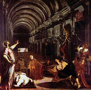 Finding of the body of St Mark - Image: Jacopo Tintoretto Finding of the body of St Mark Yorck Project