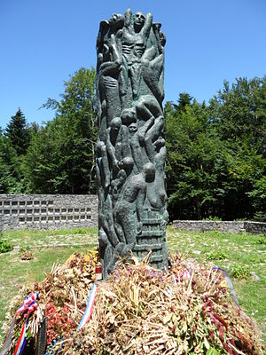 Jadovno concentration camp - Monument to the victims of the camp.