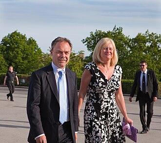 Jan Björklund - Jan Björklund and his wife at Skansen, Stockholm in 2010.