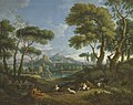 Jan Frans van Bloemen - Arcadian landscape with shepherds and shepherdesses.jpeg