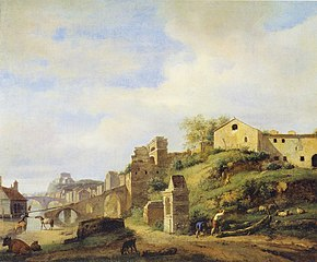 View on the Tiber River, Rome