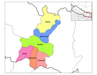 Janakpur Zone - Image: Janakpur districts
