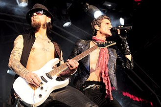 Jane's Addiction - Dave Navarro and Perry Farrell performing at the 2010 Soundwave Festival in Perth.