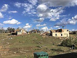 2017 tornado damage in Petal