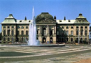 Dresden Museum of Ethnology - Japanisches Palais which houses the Museum of Ethnology