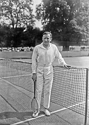 Jean-Pierre Samazeuilh - Jean Samazeuilh at the 1921 Davis Cup match against British India in Paris