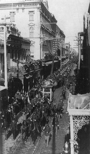 Louisiana Historical Association - Funeral procession for Jefferson Davis, 1889, New Orleans.