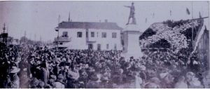 Jefferson Davis Monument - The statue's dedication in 1911