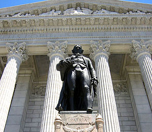 Missouri State Capitol - Statue of Thomas Jefferson, South Entrance
