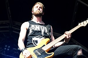 Jeremy Davis - Davis performing as part of Paramore, 2010