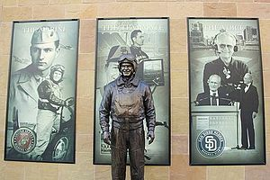 Jerry Coleman - Statue of Coleman at Petco Park.