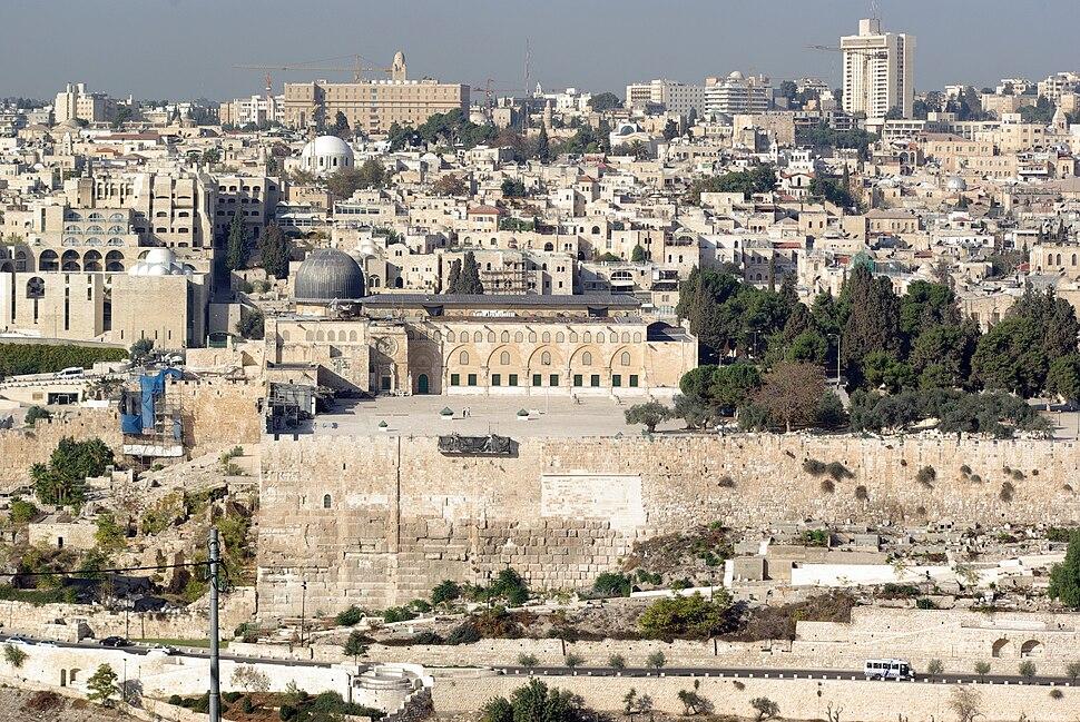 Jerusalem Al-Aqsa Mosque BW 1