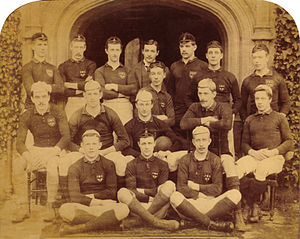 Gregor MacGregor (sportsman) - MacGregor, middle row, seated far left with the Jesus College XV in 1889