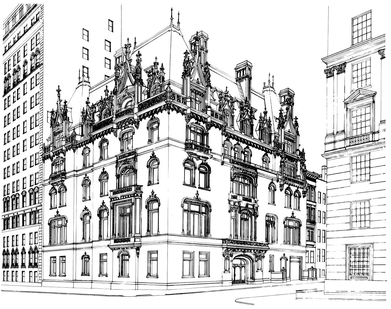 Line Drawing Buildings : File jewish museum building line drawing b w ppi