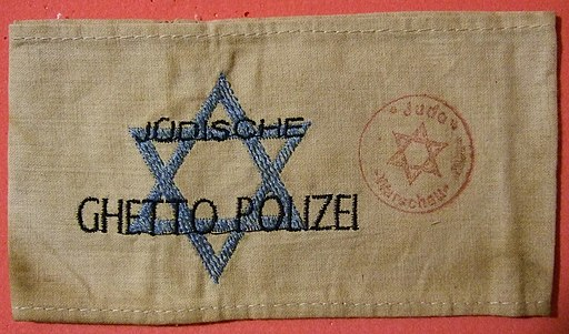 Jewish Warsaw Ghetto Police Arm Band early 1940s