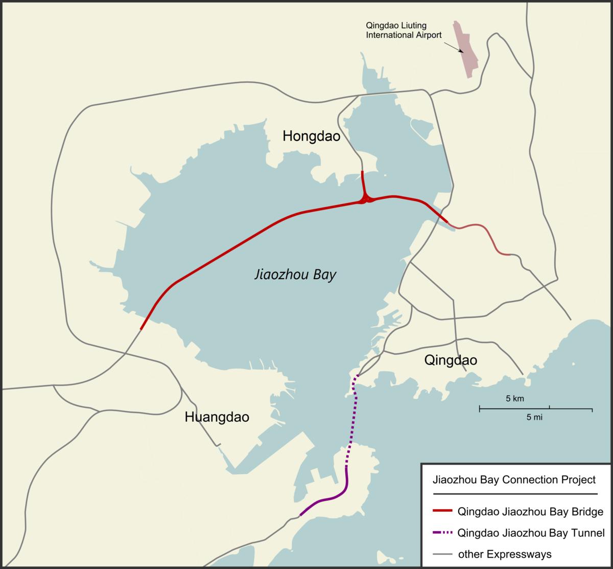 Qingdao Jiaozhou Bay tunnel - Wikipedia