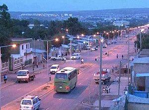 Somali Region - Main street in Jijiga's Laanta Hawada neighborhood