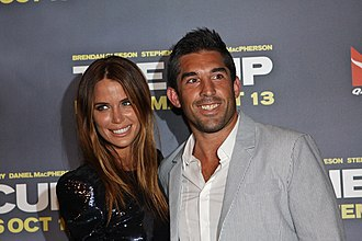 Braith Anasta - Image: Jodi Gordon with Braith Anasta at Cup premiere