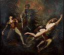 Johann Heinrich Füssli - Theodore Meets in the Wood the Spectre of His Ancestor Guido Cavalcanti - Google Art Project.jpg