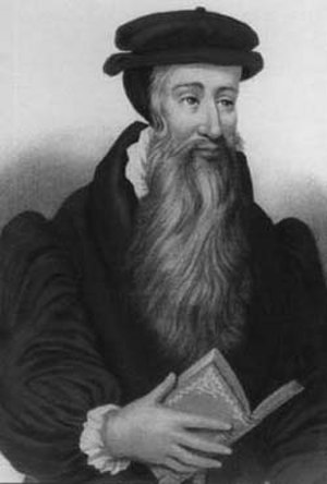 History of the Puritans under Queen Elizabeth I - John Knox (c.1510–1572), leader of Protestant exiles in Frankfurt.