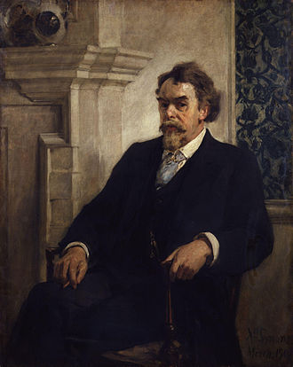 John Francis Bentley - Portrait of John Francis Bentley by William Christian Symons, 1902