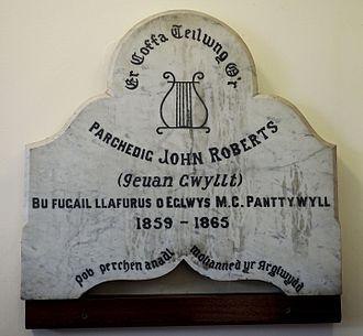Ieuan Gwyllt - Image: John Roberts (Ieuan Gwyllt) memorial Canolfan Soar