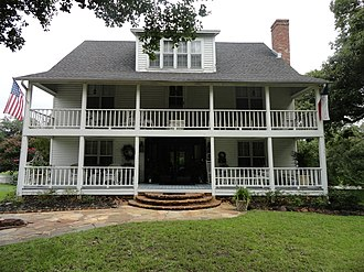 National Register of Historic Places listings in Upshur County, Texas - Image: John and Eva O'Bryne House front closer