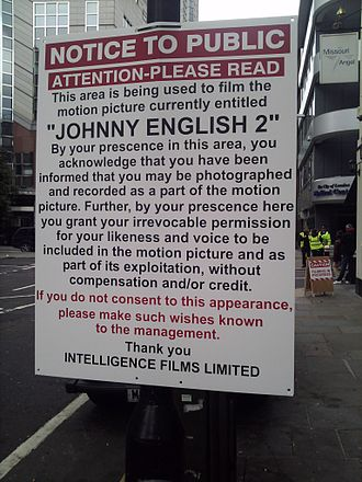 Johnny English Reborn - Filming for the sequel in London in September 2010