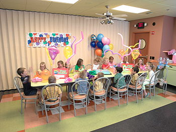 English: Johns Inc Birthday_party