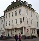 Large three-storey house on a corner site