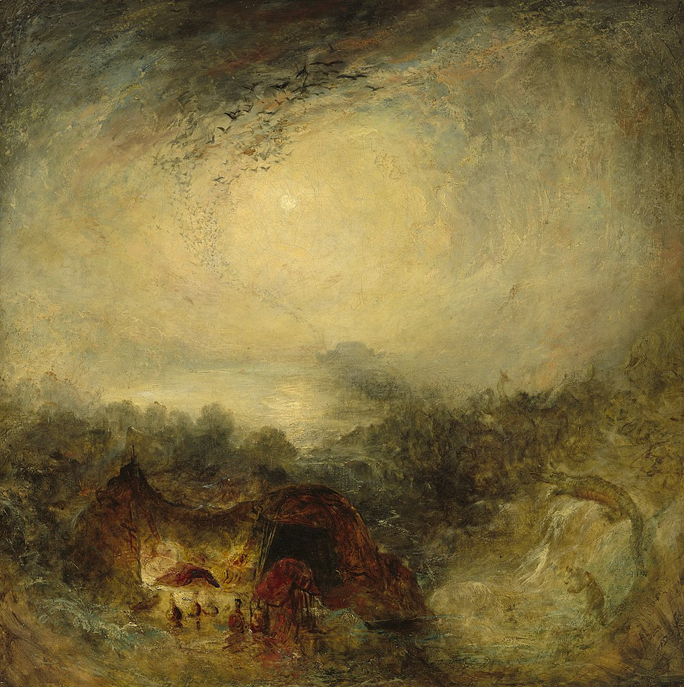 Joseph Mallord William Turner, The Evening of the Deluge, c. 1843, NGA 46064