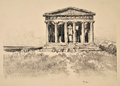 Joseph Pennell Temple of Concord, Girgenti.png