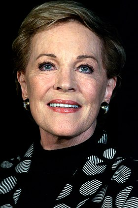 Julie Andrews won three times for her roles in Mary Poppins (1964), The Sound of Music (1965), and Victor/Victoria (1982) Julie Andrews Park Hyatt, Sydney, Australia 2013.jpg