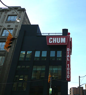 250 Richmond Street West - The CHUM neon sign at 250 Richmond Street West