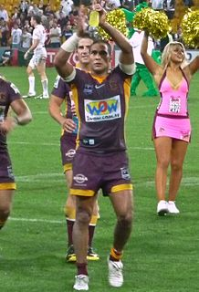 Justin Hodges Former Indigenous Australian Rugby league player.
