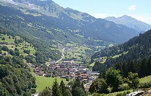Küblis - Küblis village in the Prättigau valley